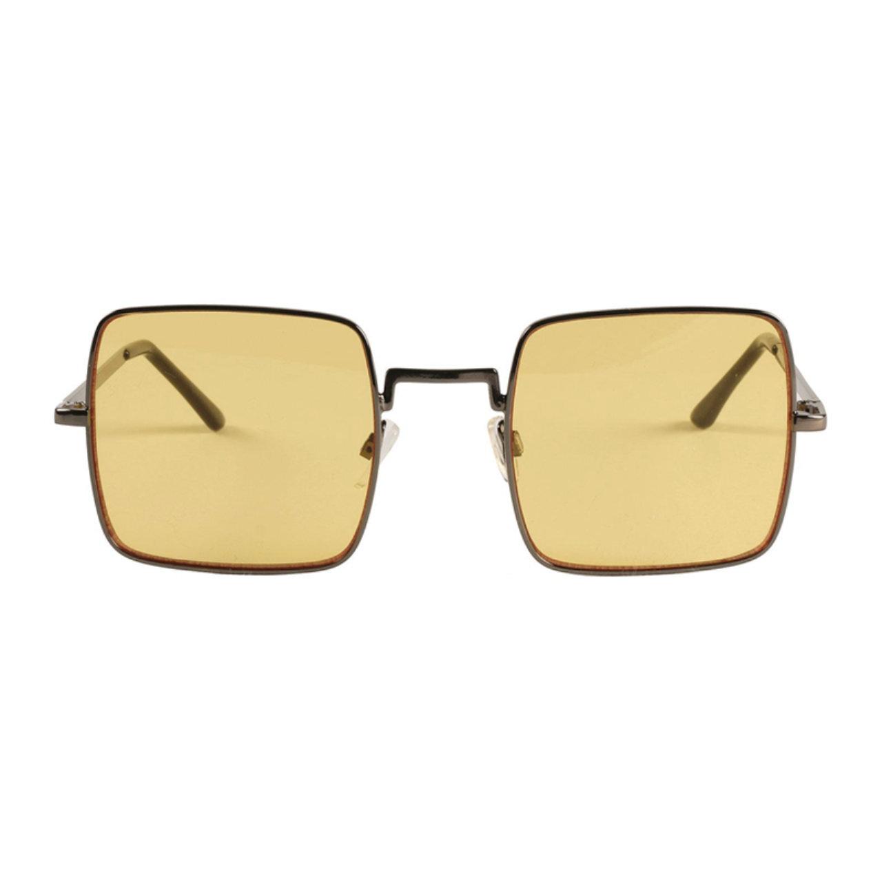 【MADCAP ENGLAND】 60sスタイル ハリスン スクエア サングラス 〈Yellow〉