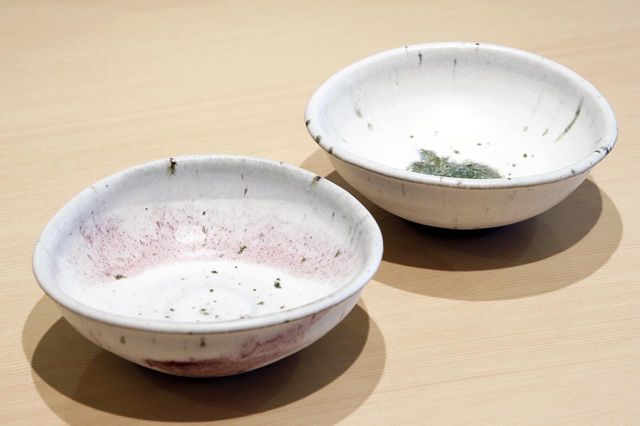雪中華 たわみ5寸鉢 作:谷井芳山・谷寛窯(信楽焼)