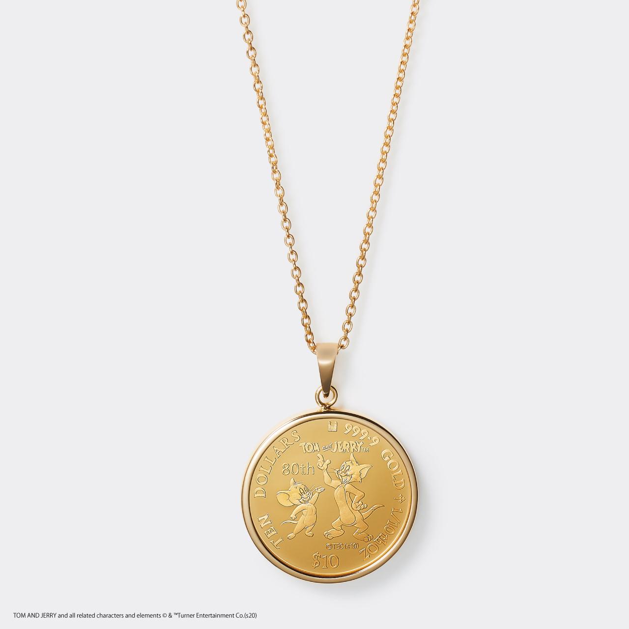 2020 TOM&JERRY 1/10 GOLD PROOF COIN NECKLACE(トムとジェリー 80周年記念硬貨ネックレス 1/10オンス)