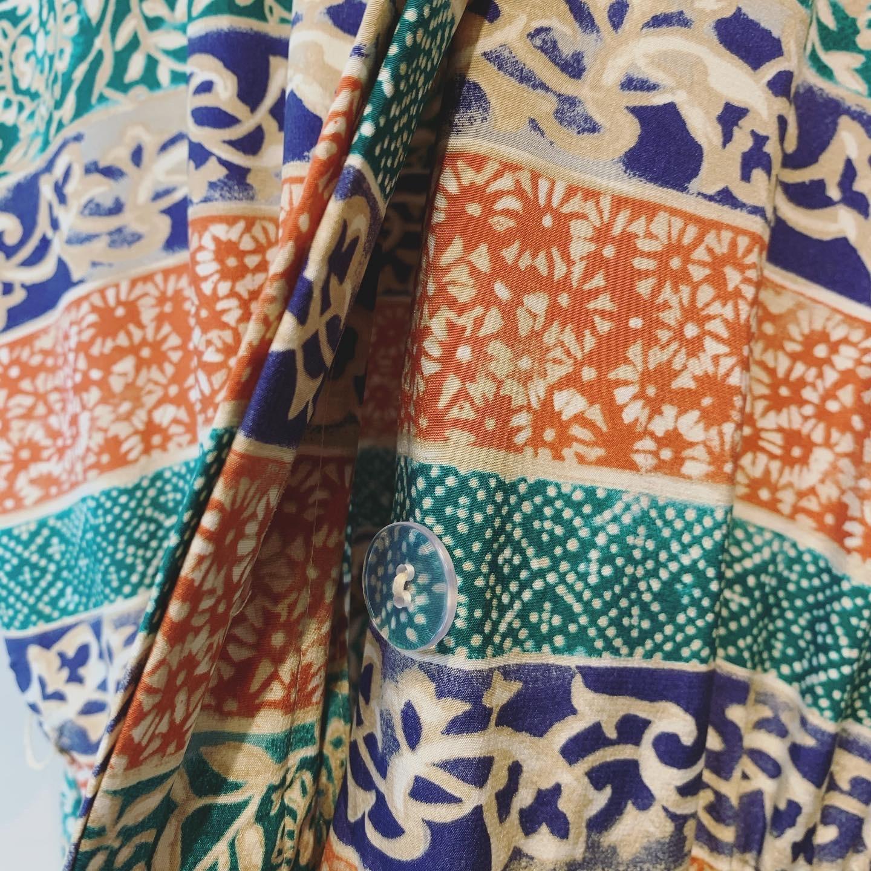 vintage design silk onepiece
