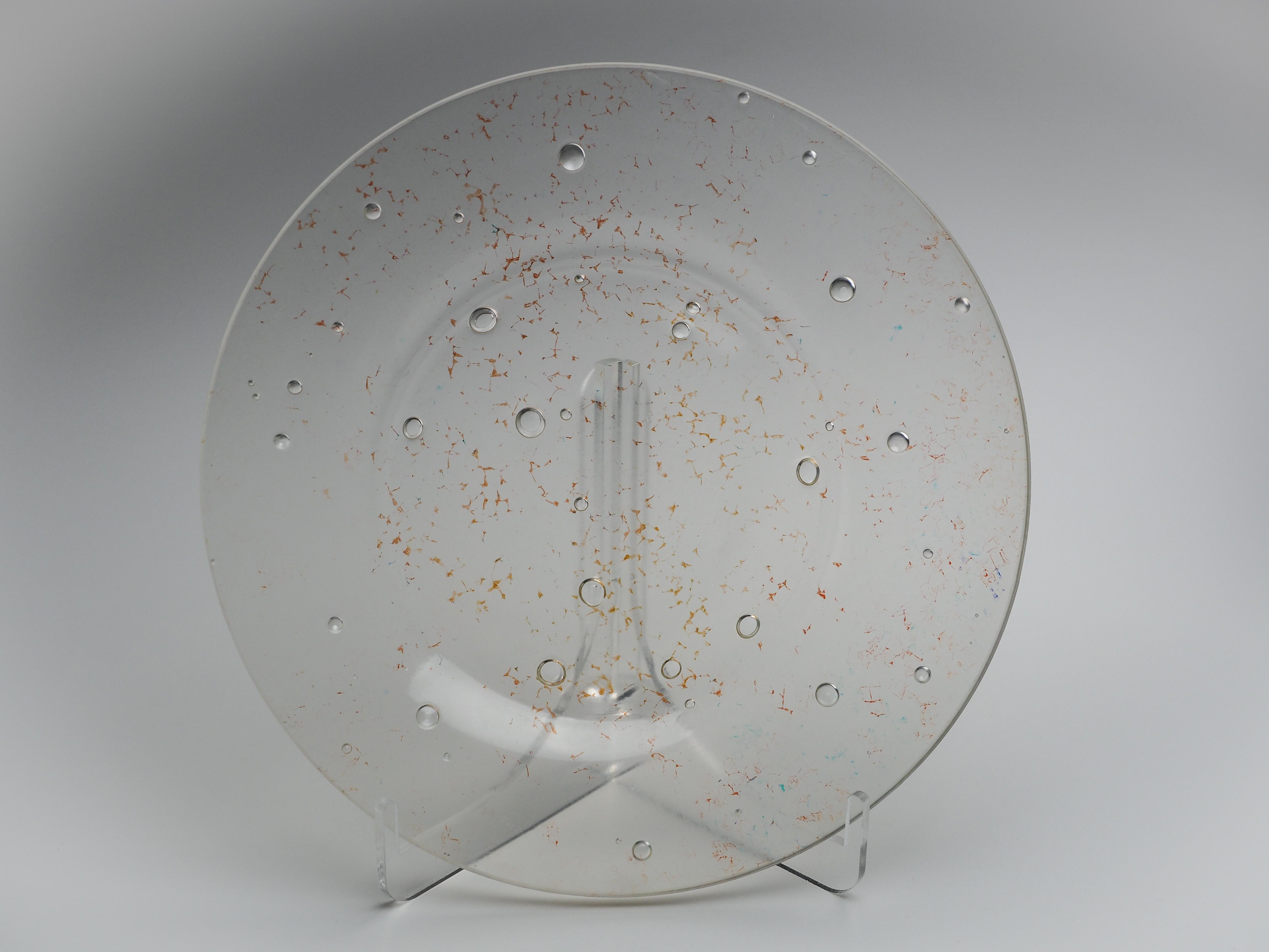 平皿-CL(透明×オレンジ)fp-cl-10