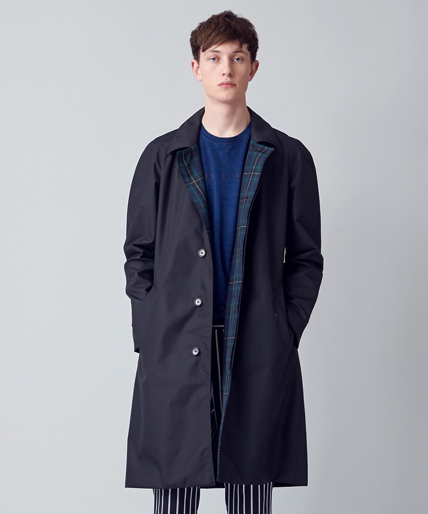 【予約】機能素材ステンカラーコート(ブラック)