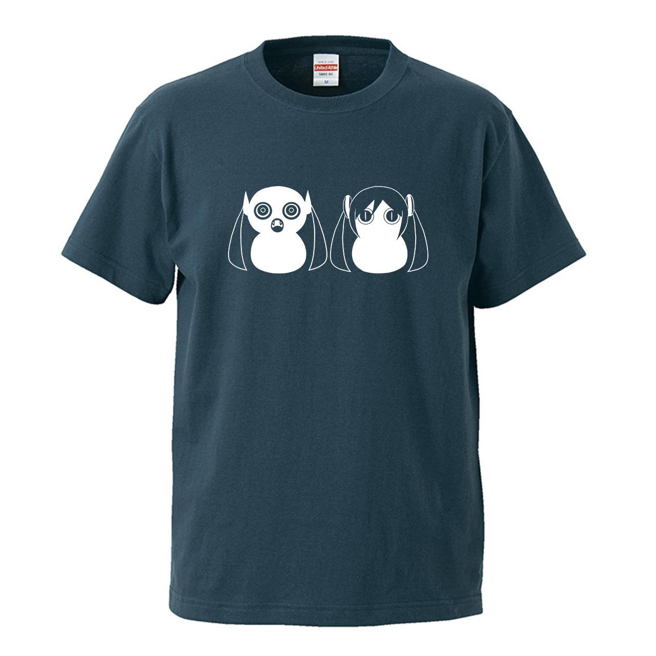 【受注生産再販】ピノキオピー - 八八 -パチパチ-  Tシャツ(スレート)+ステッカーセット - 画像1