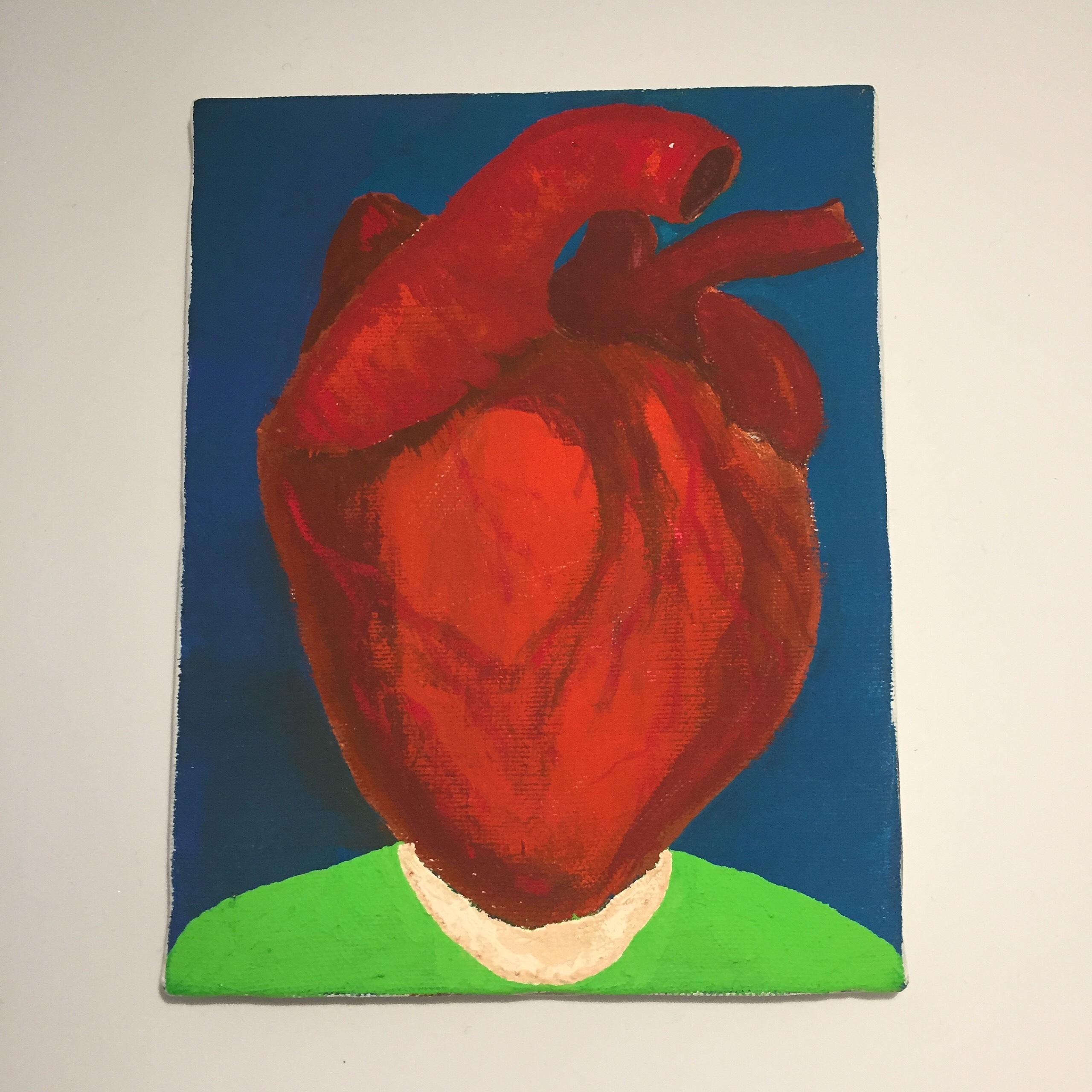 HEART HUMAN #1(2017)/ 18cm×14cm / Acrylic painting / Original Drawing