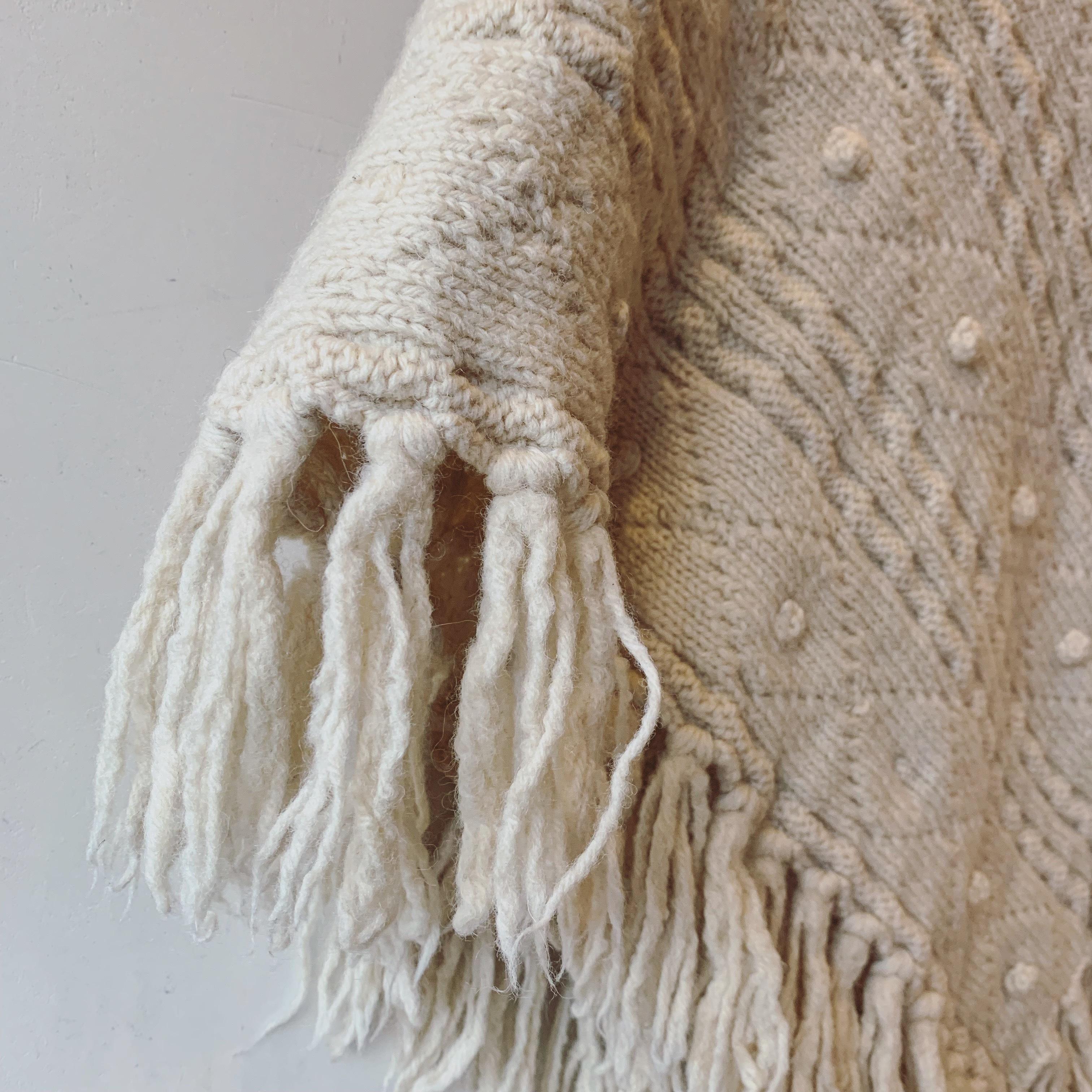 vintage Aran knit cape