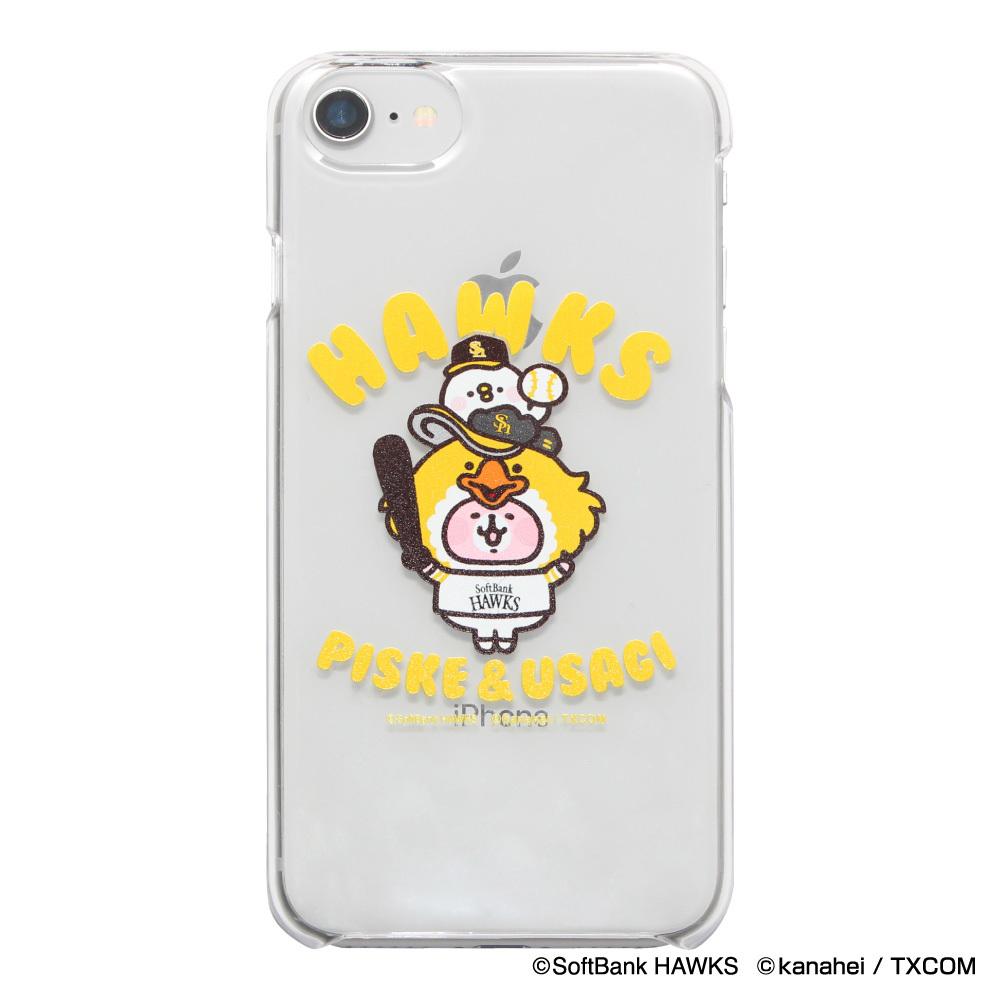 カナヘイの小動物 ピスケ&うさぎ×ホークス iPhoneクリアケース