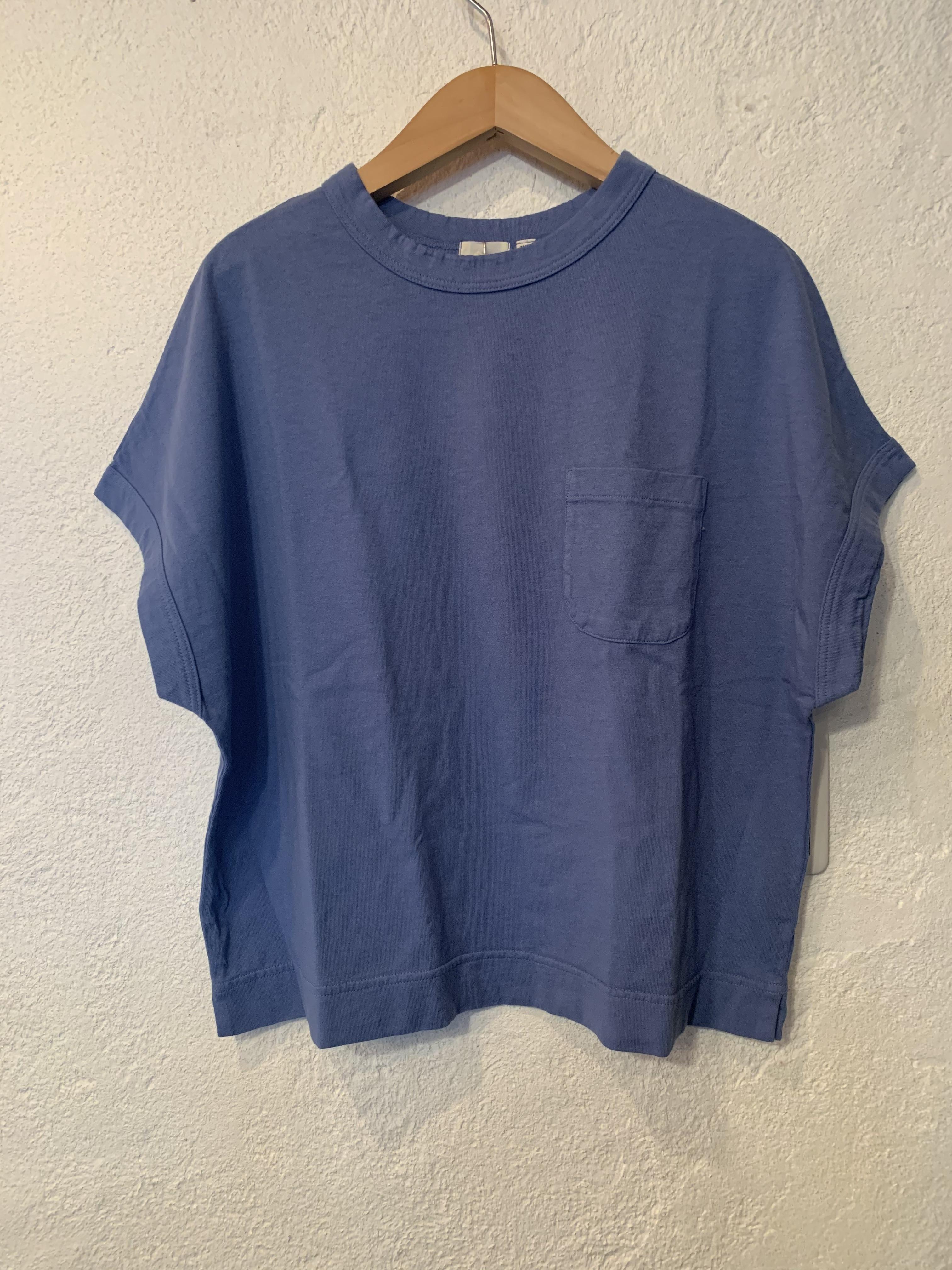 days/アメリカンドライ天竺ポケット付きTシャツ  ブルー