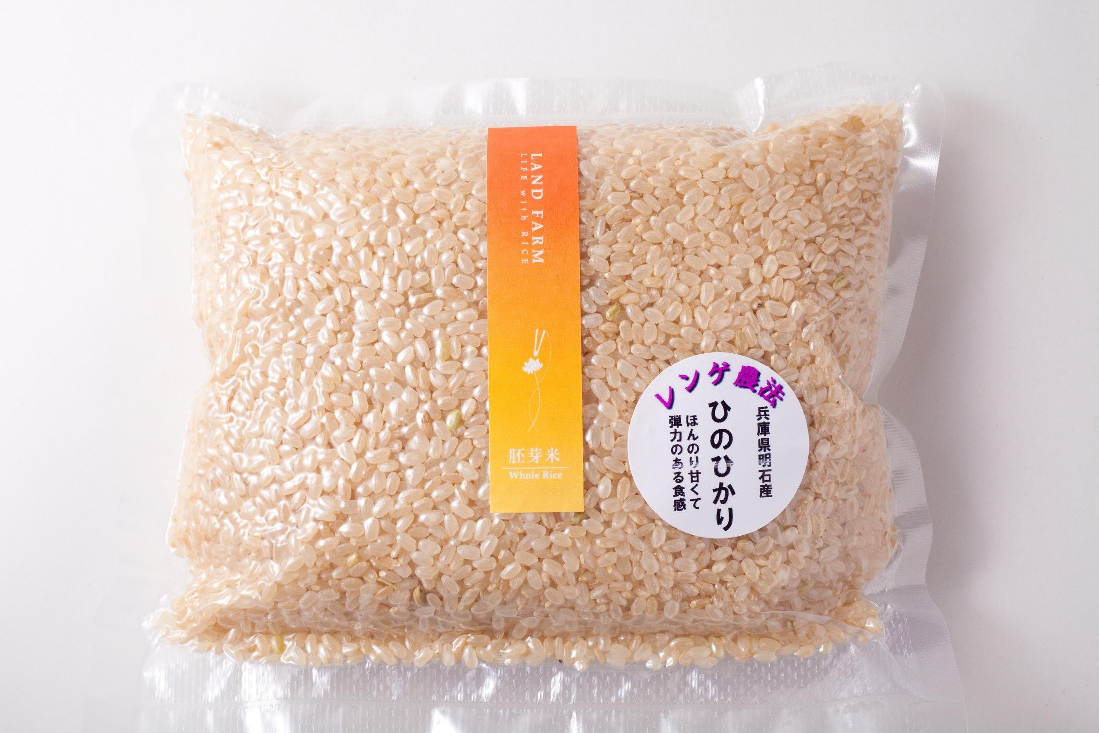 新米  ひのひかり胚芽米 真空パック 1kg(500g×2個)