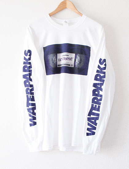 【WATERPARKS】VHS Entertainment Tape Long Sleeve (White)