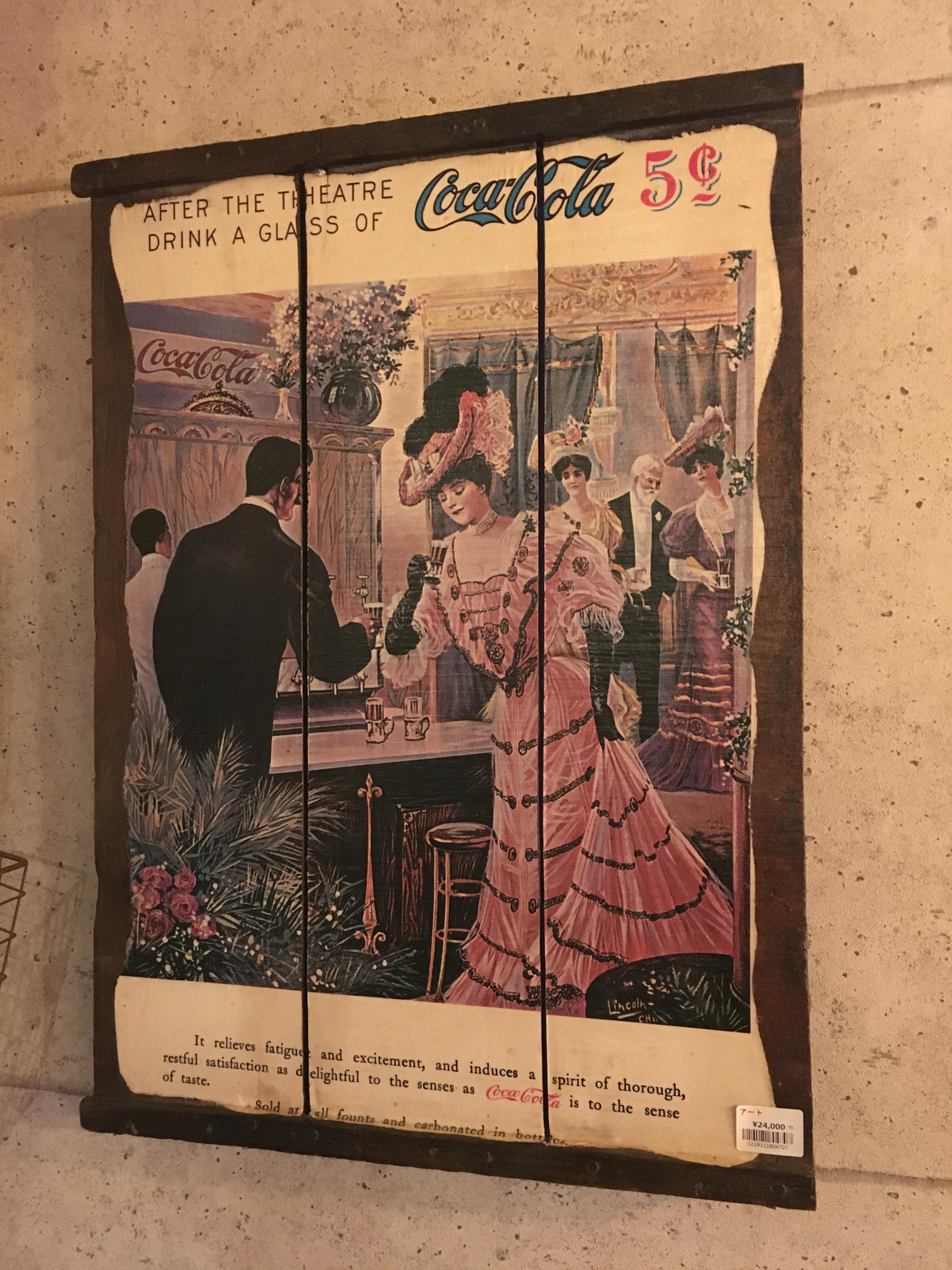 品番4707 Coca Cola 木製 ポスター ヴィンテージ 広告 011