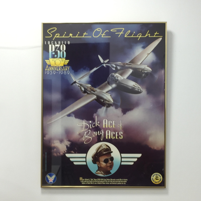 品番5121 映画 ポスター The Spirit of Flight P-38 LOCKHEED ANNIVERSARY 1939-1989 ヴィンテージ 011