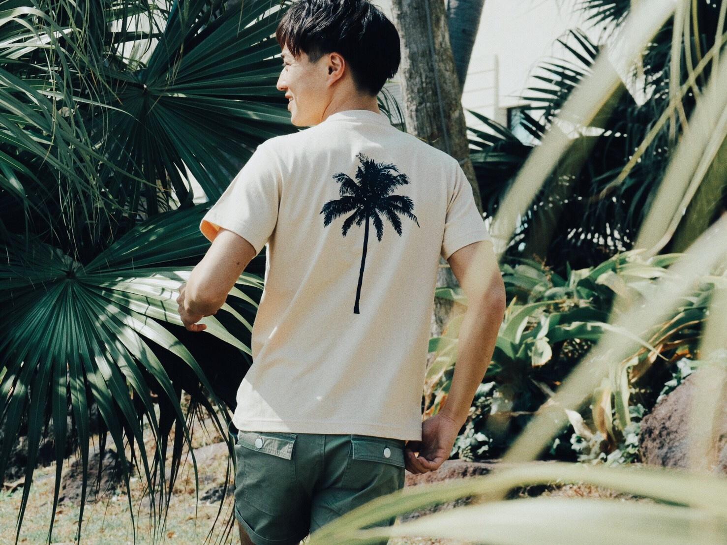 【Fine7月号掲載】 Palm tree Tシャツ (beige)