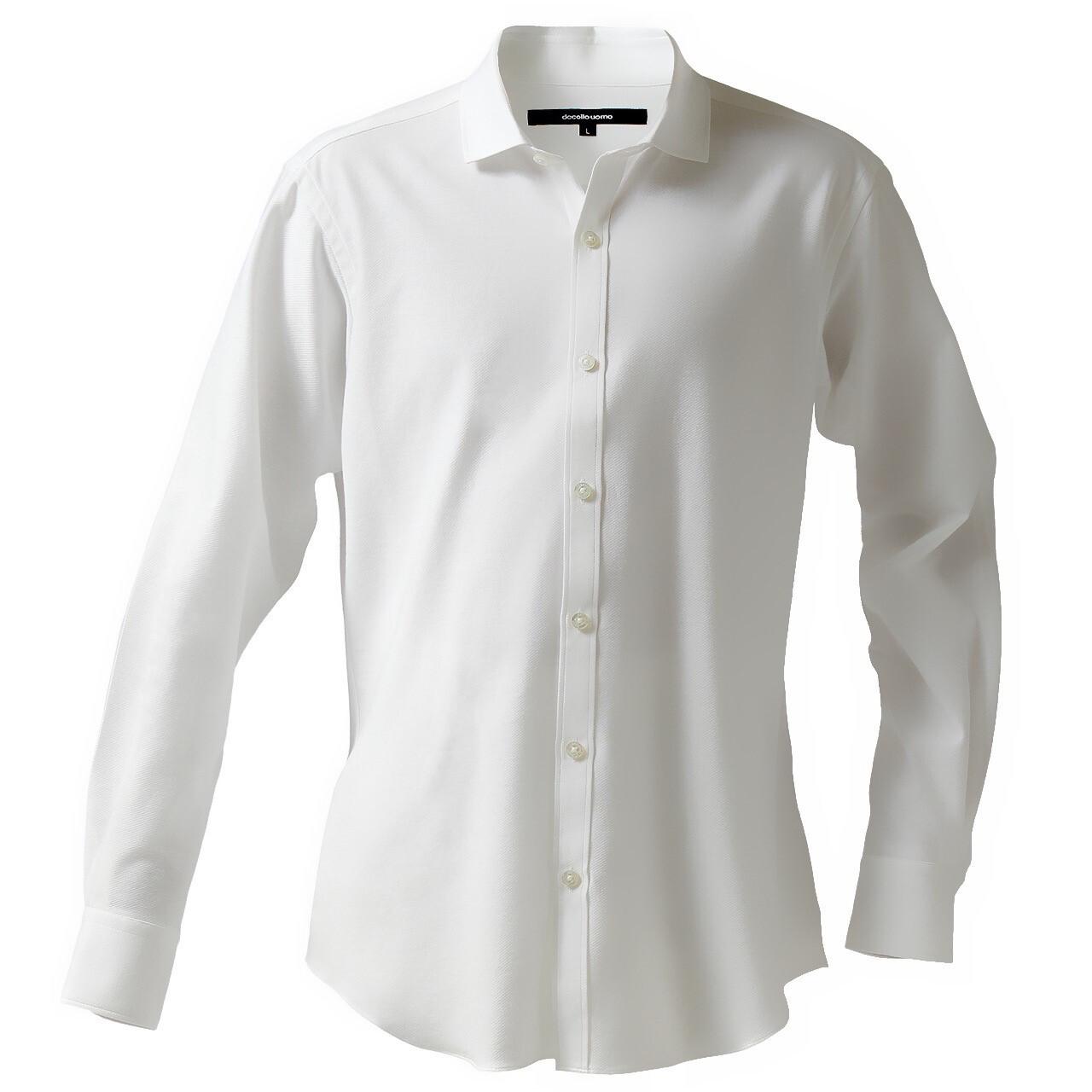 DJS-767 decollouomo メンズドレスシャツ 長袖 overture - ピュアホワイト