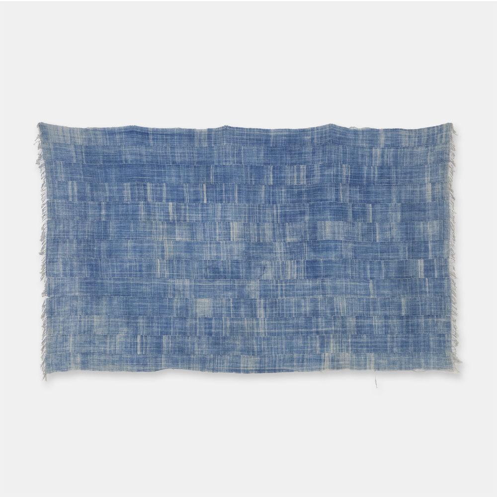 ブルキナファソ モシ族 ヴィンテージの藍染め布 古布 SLI009