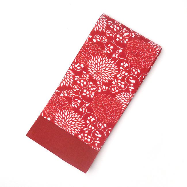 半幅帯-片貝木綿(赤)