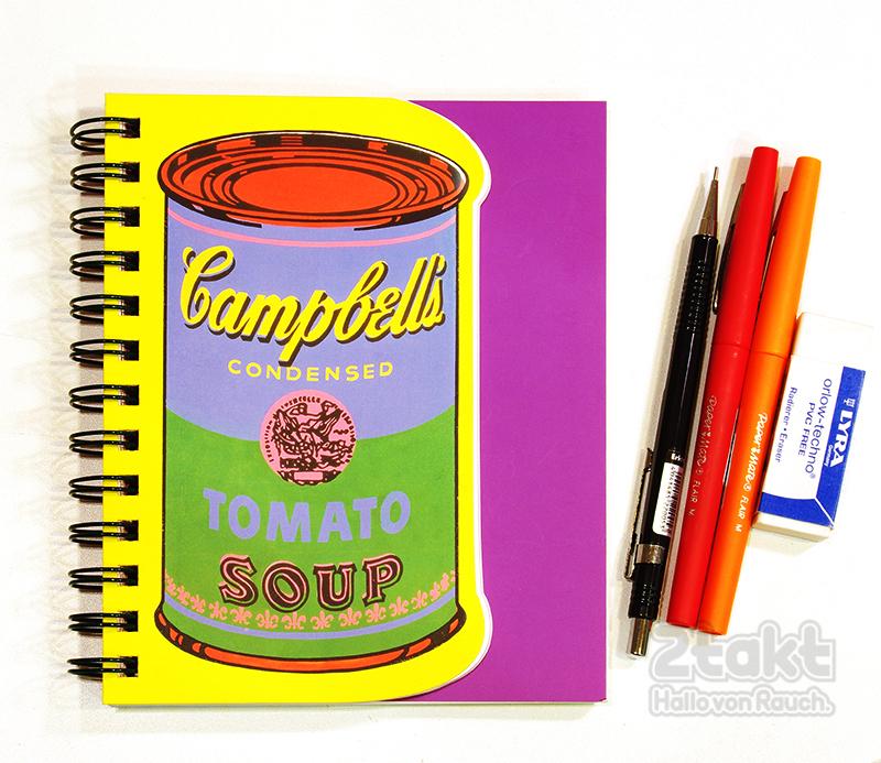 mudpuppy マッドパピー Andy Warhol ダイカットジャーナル - キャンベルスープ缶