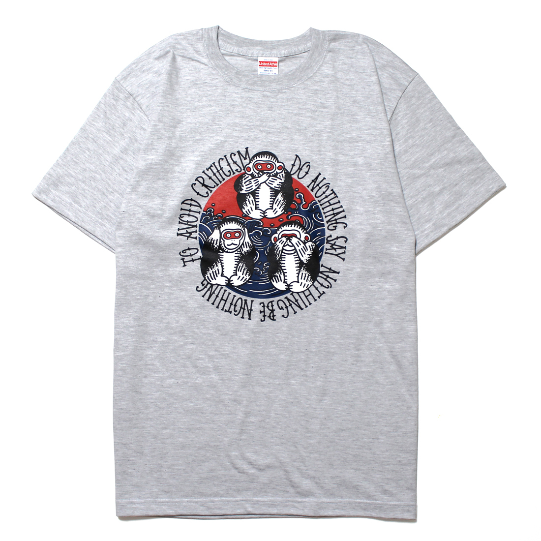 "MARU TATTOO ""三猿"" S/S Tee [ASH GRAY]"