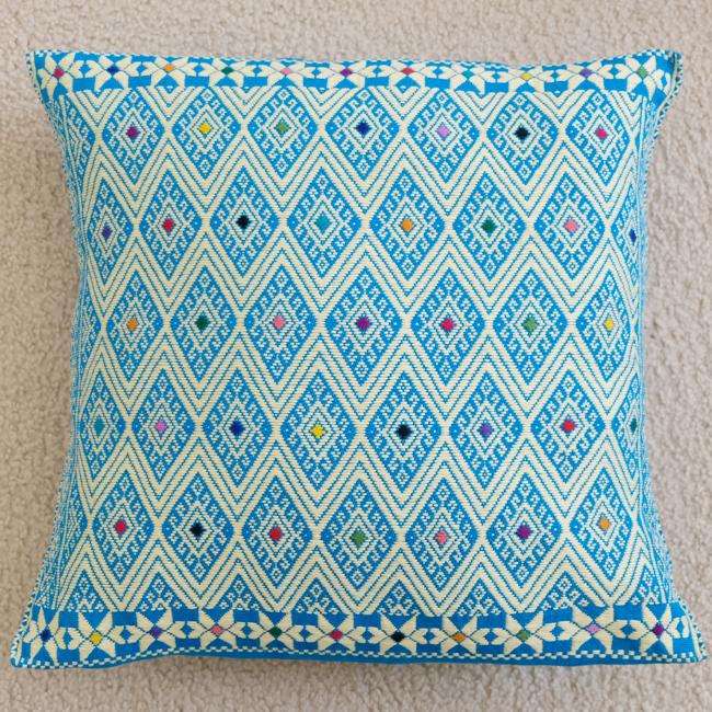 ララインサール村の手織りクッションカバー /215a/ MEXICO メキシコ