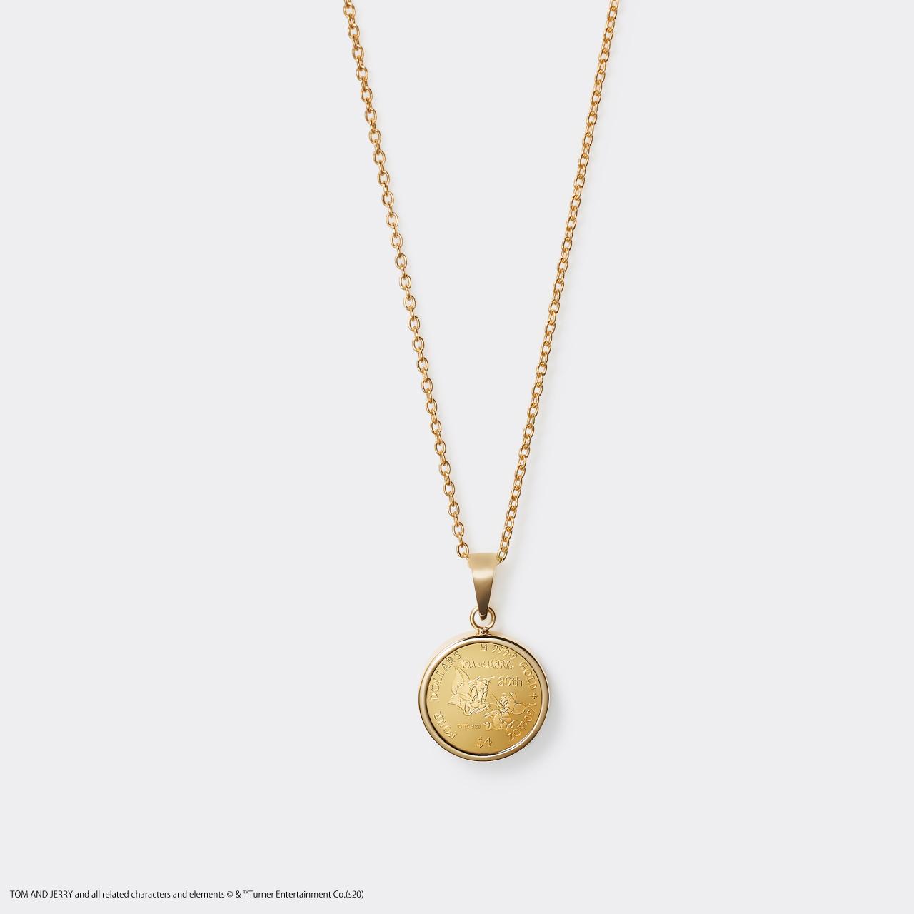 2020 TOM&JERRY 1/30 GOLD PROOF COIN NECKLACE(トムとジェリー 80周年記念硬貨ネックレス 1/30オンス)