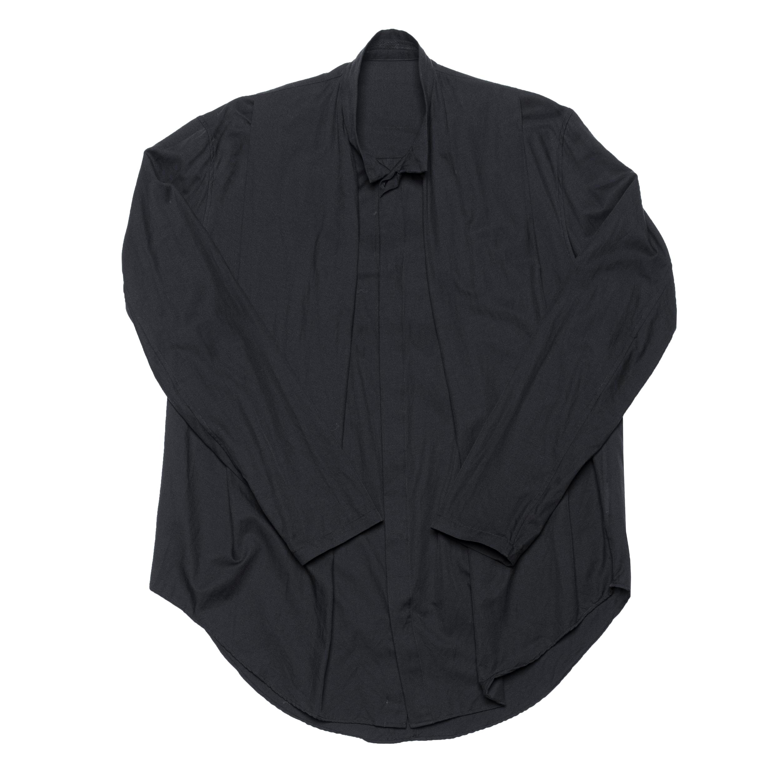 687SHM1-BLACK / フロントタックシャツ