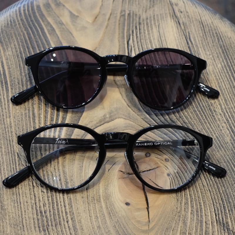 1sin(イッシン) CIRCLE別注innovator ブラック ラウンドボストン眼鏡・サングラス