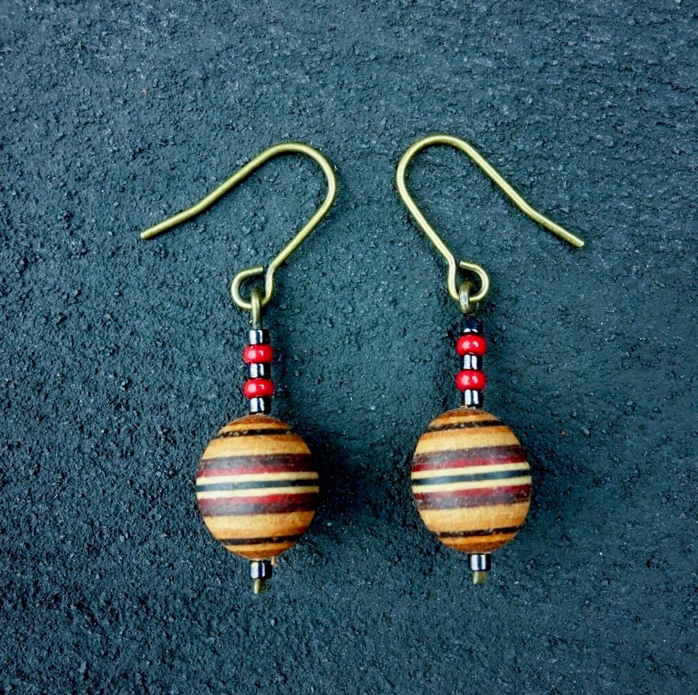 wood ball beads pierce PWB-001