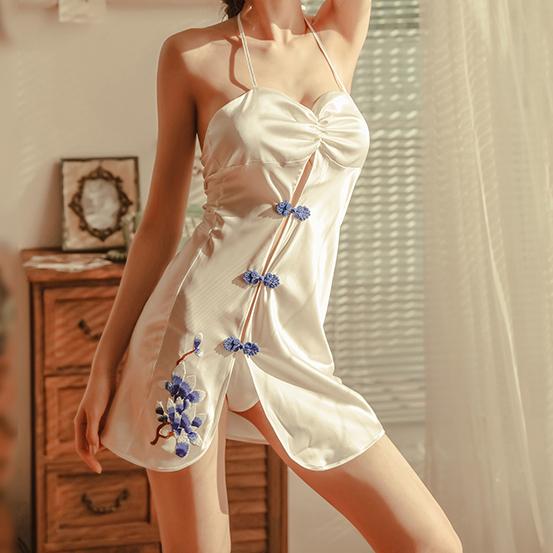 「ルームウェア.パジャマ」中国風透かし彫りセクシーランジェリー15695642