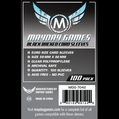 (59x92mm) Mayday カードスリーブ 背面黒タイプ  ユーロサイズ  MDG-7042