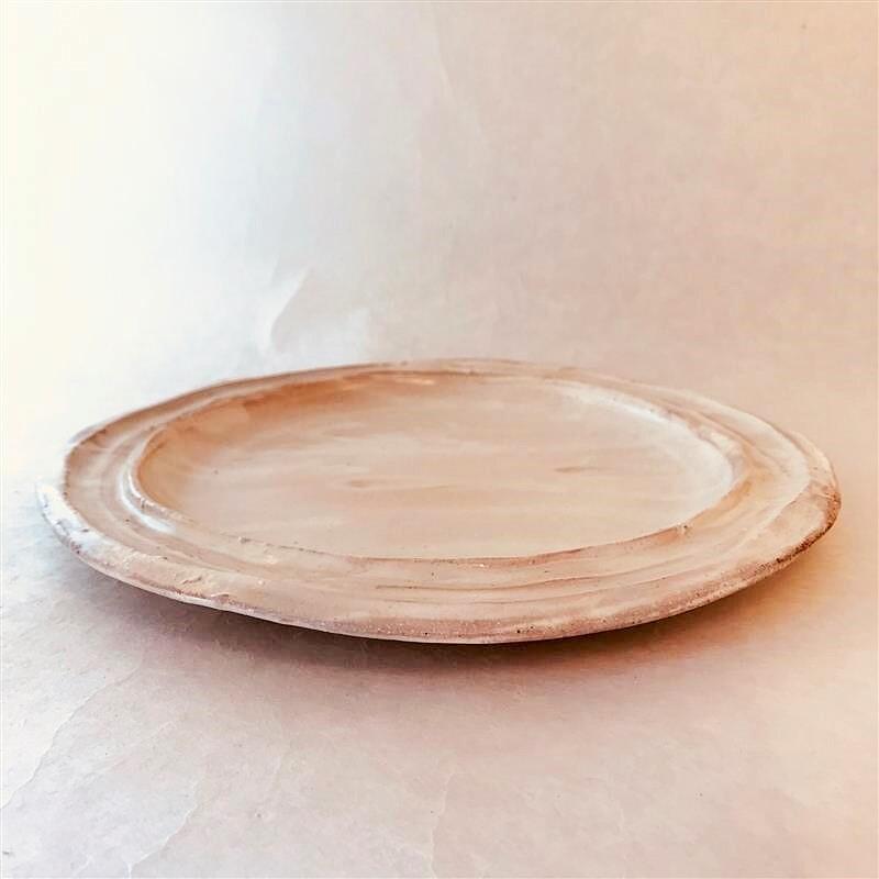 田山陶房12-3 粉引丸皿
