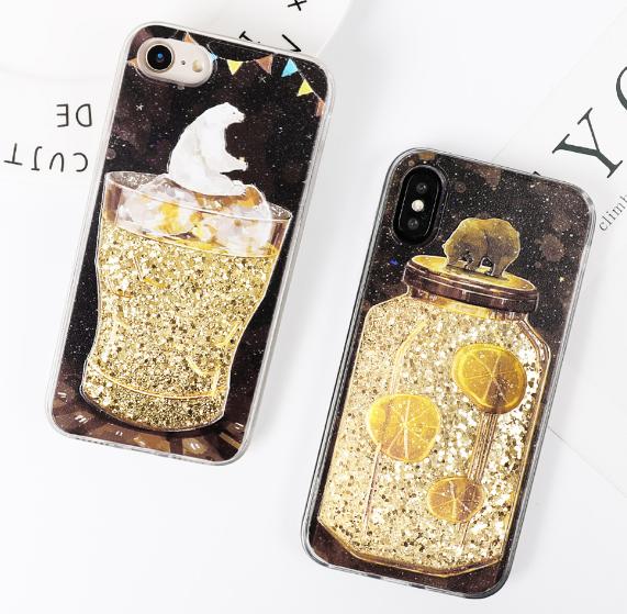 【お取り寄せ商品、送料無料】流砂 かわいいくま2タイプ iPhoneケース