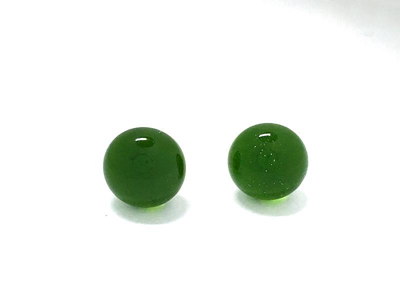 リサイクルガラス ピアス Ocean Green