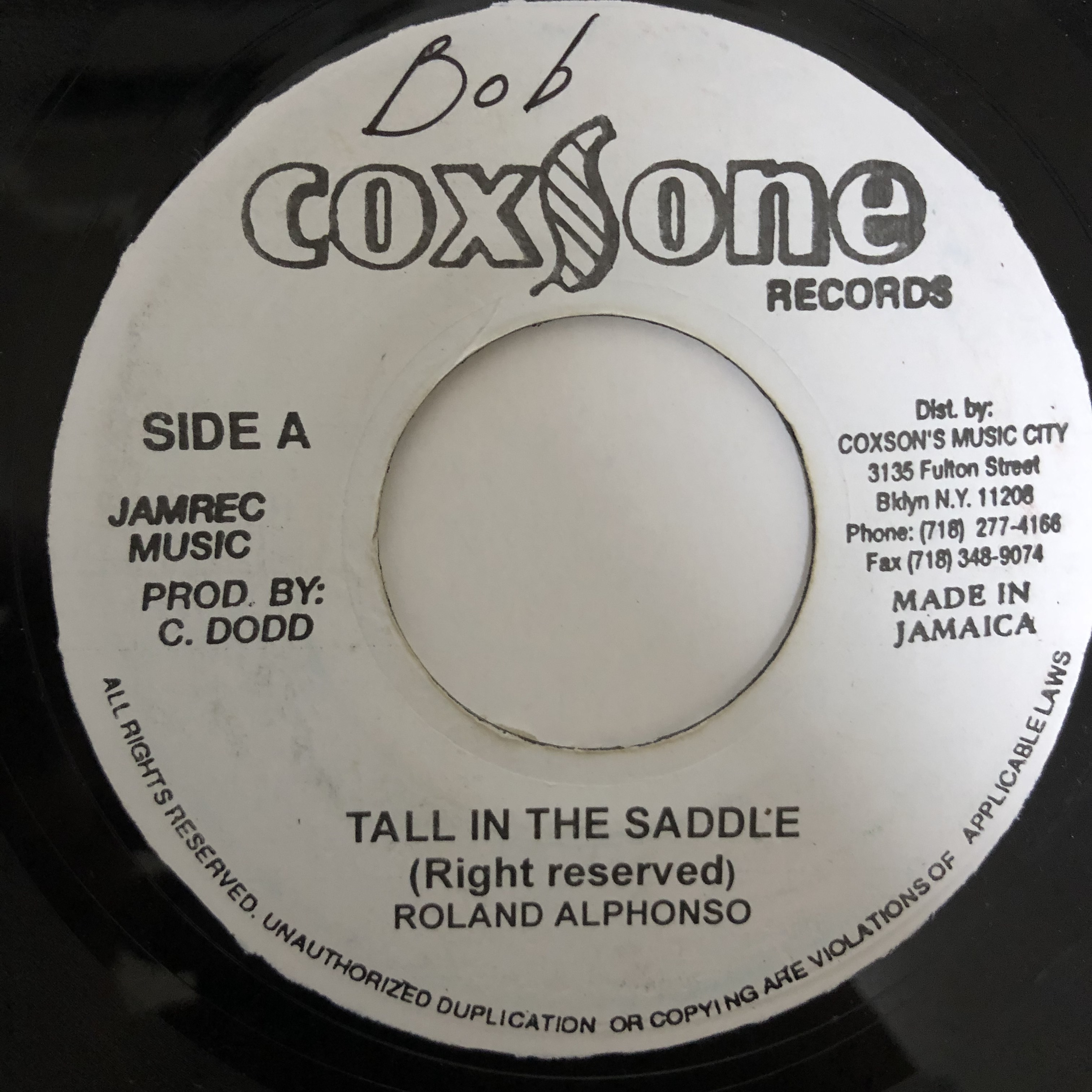 Roland Alphonso - Tall In The Saddle【7-20433】