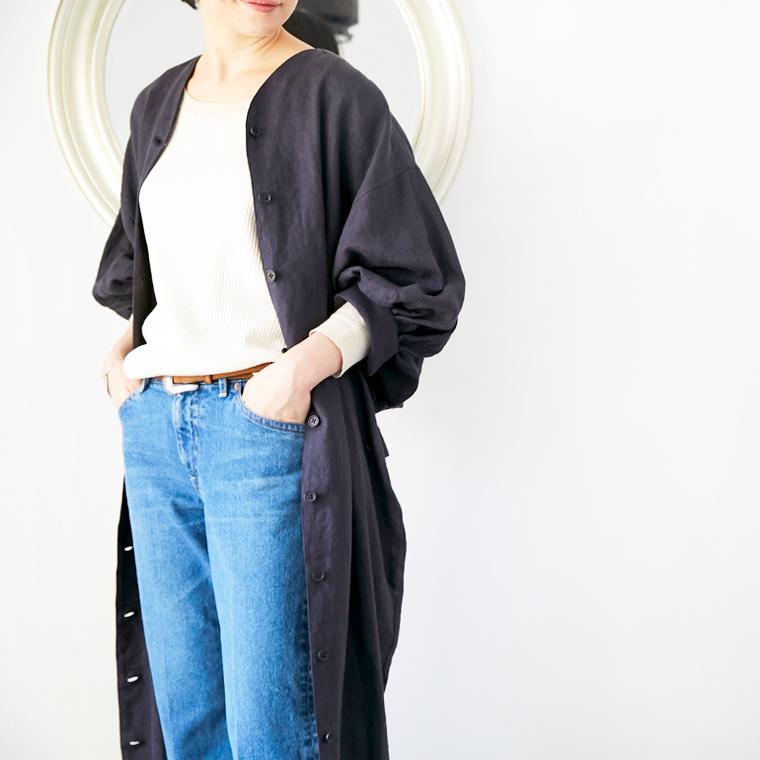 L'Ancre (アンカー)リネンキャンバスローブコート&ワンピース