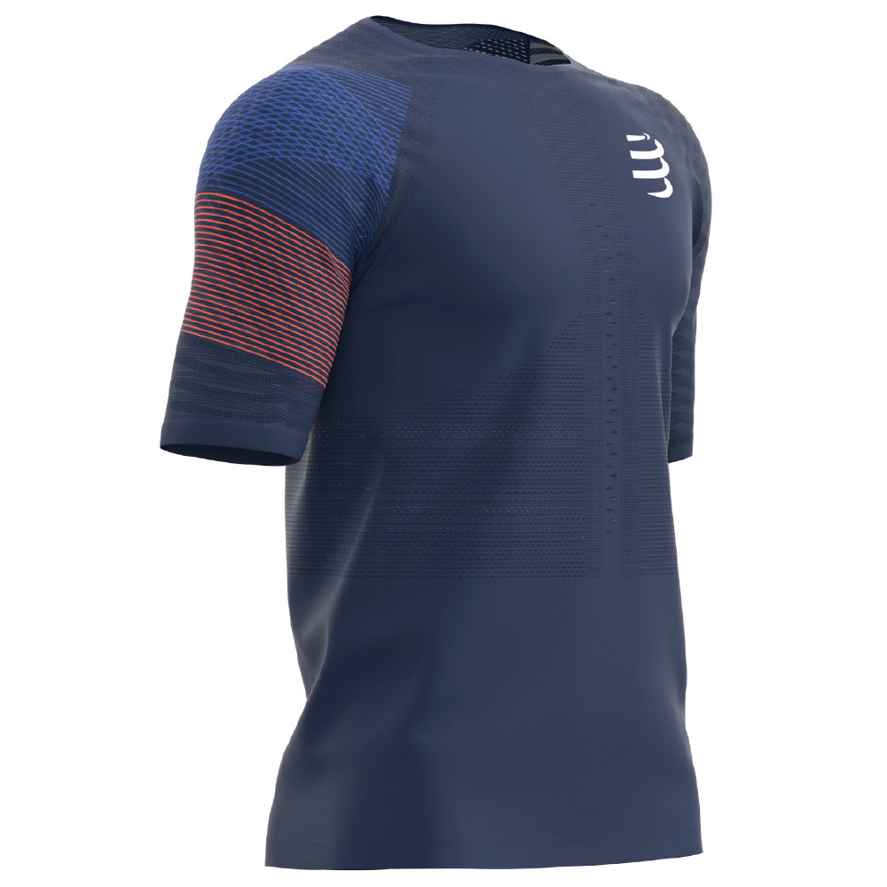 【50%OFF】COMPRESSPORT コンプレスポーツ Performance SS Tshirt パフォーマンス SS Tシャツ  ブルー TSRUNR-SS-5080
