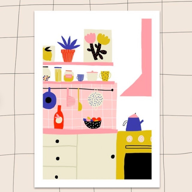 "Jennifer Bouron ""Kitchen"" A5 print"