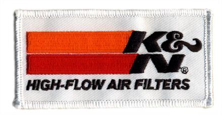 K&N・ロゴ・ワッペン・ホワイト
