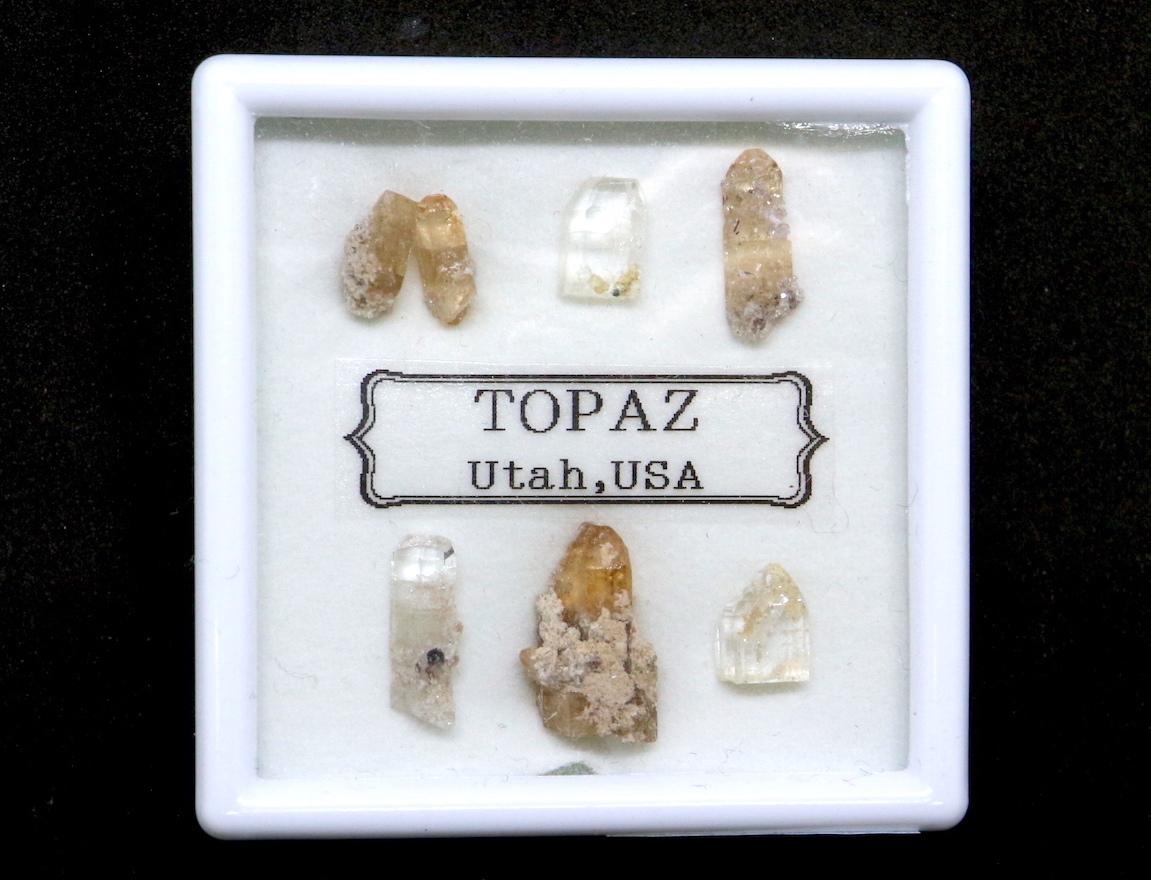 【鉱物標本セット】トパーズ ユタ州産 スクエア #2 TZ035 原石 宝石 天然石 鉱物セット