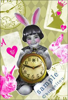 ポストカード - 不思議の国のシロウサギ(2) - 金星灯百貨店