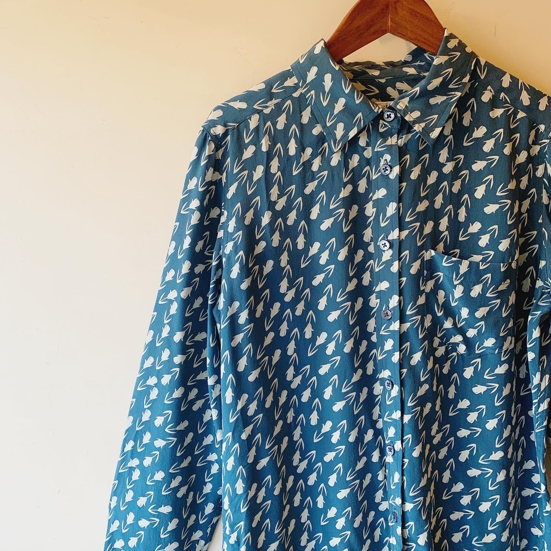 vintage tulips silk shirts