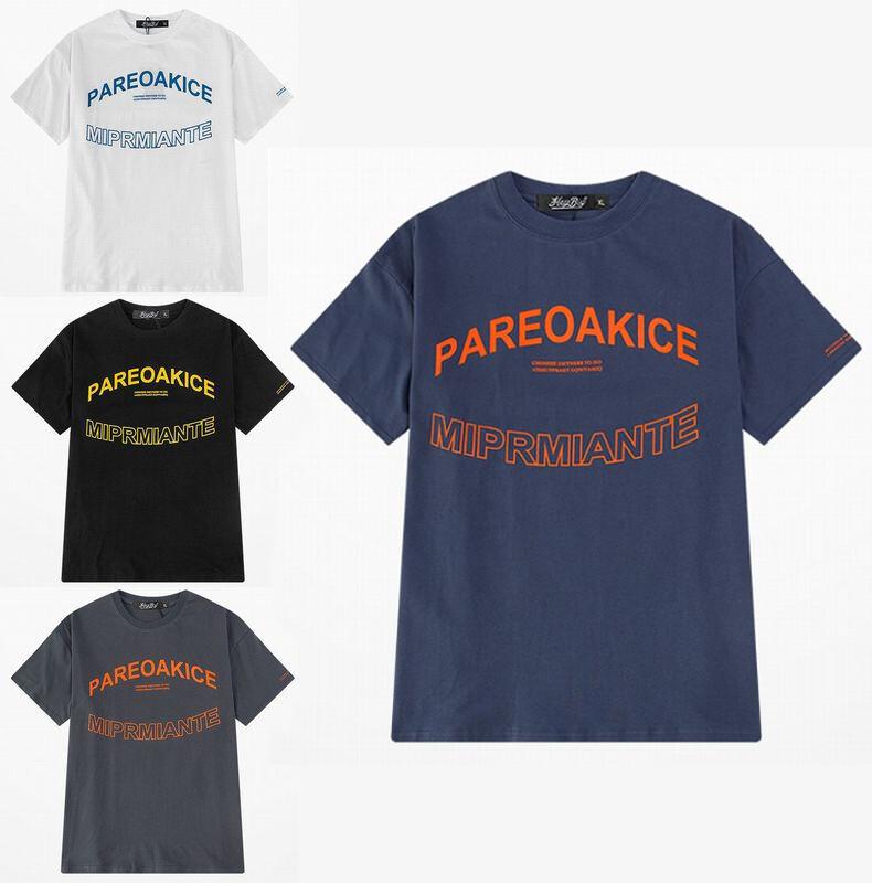 ユニセックス 半袖 Tシャツ メンズ レディース PAREOKAKICE 英字 プリント オーバーサイズ 大きいサイズ ルーズ ストリート