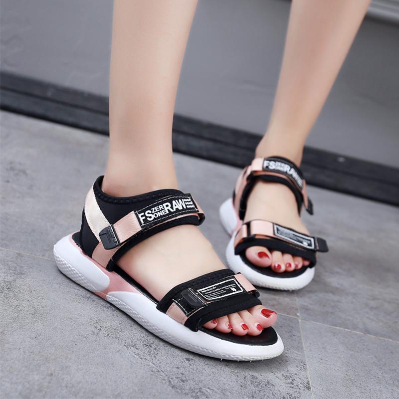 【shoes】ファッション配色アルファベットサンダル19214058