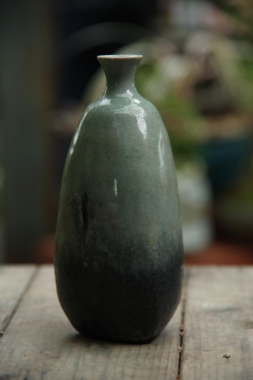 灰釉一輪挿し②【小林 哲生】