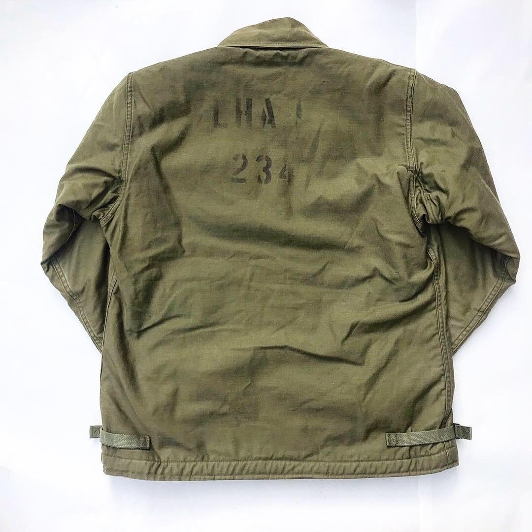 【70's U.S.NAVY A-2 DECK JACKET】ステンシル デッキジャケット サイズM
