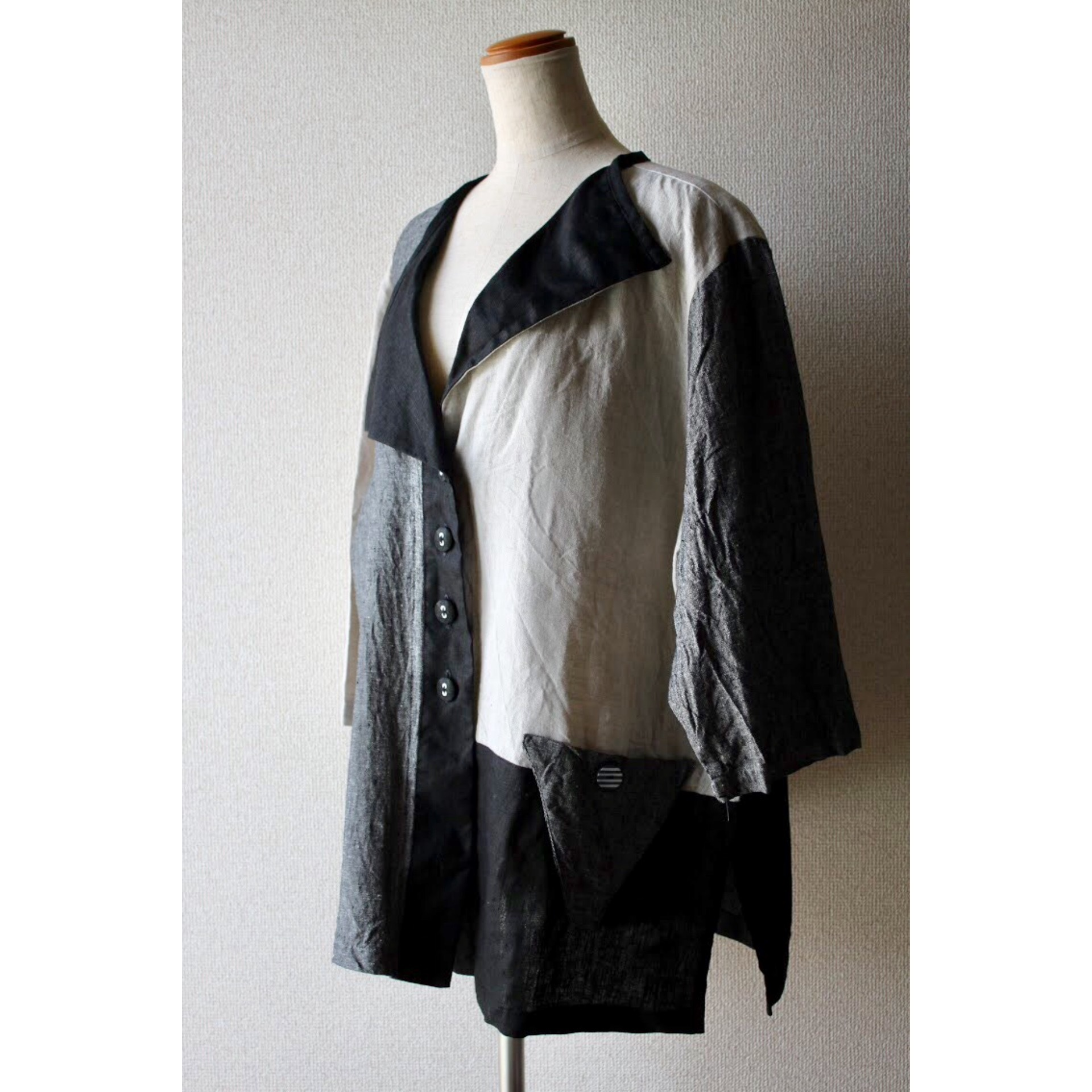 Vintage crazy pattern linen jacket
