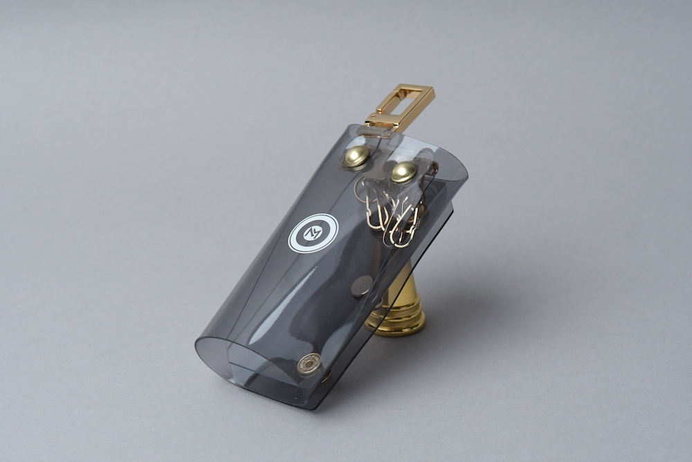 Triple Fold  Key Case  □スモークグレー・ゴールド□ - 画像2
