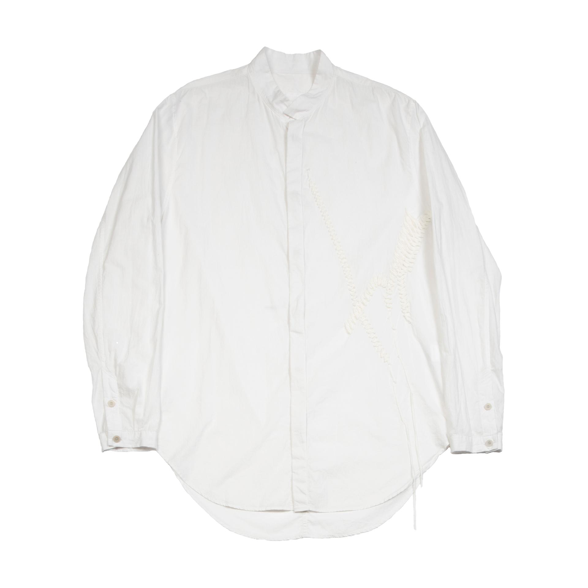 [ 2021 春夏 予約商品 ] 737SHM5-WHITE / スタンドカラーシャツ / 1月入荷予定