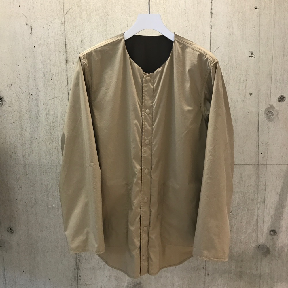 meanswhile Water-repellent/Coolmax Reversible 4Way Shirts JKT CHARCOAL×Beige
