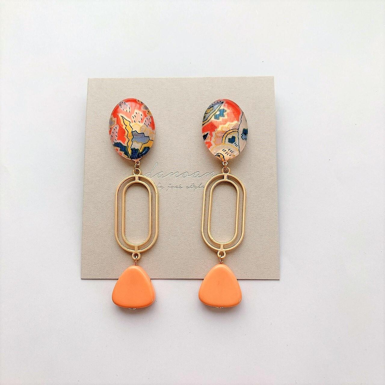 """"""" Earrings NO.danoan-28″ フランスビーズとリバティ"""