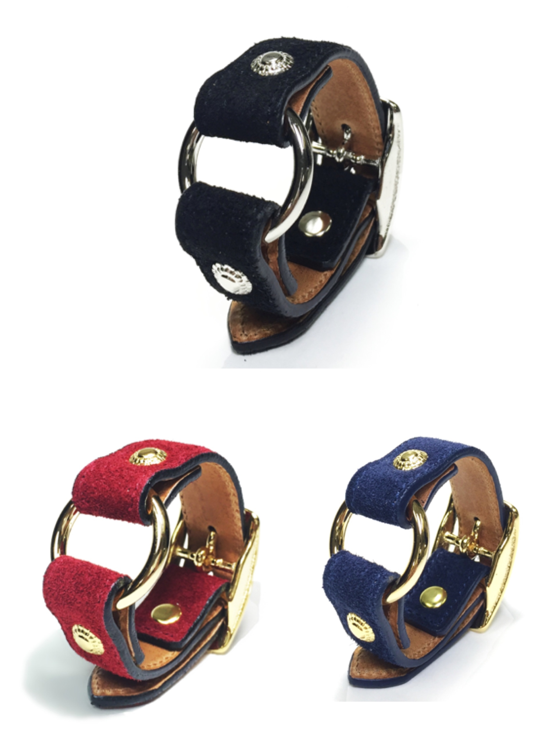nahezugleich / Suede Ring bracelet - 画像1