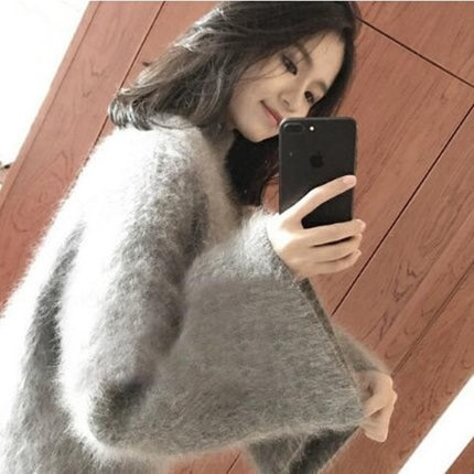 【即納】モヘアホーンスリーブニットセーター365